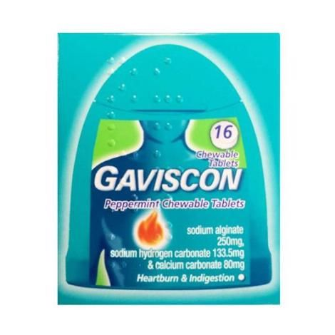 Gaviscon Handypack - 16 Chewable Tablets