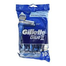 Gillette Blue II Disposable Razor 10 Pack