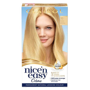 Clairol Nice N Easy Natural Hair Dye-10 Extra Light Blonde