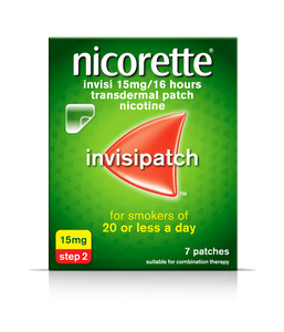 Nicorette Invisi Patch Step 2-15mg 7patches