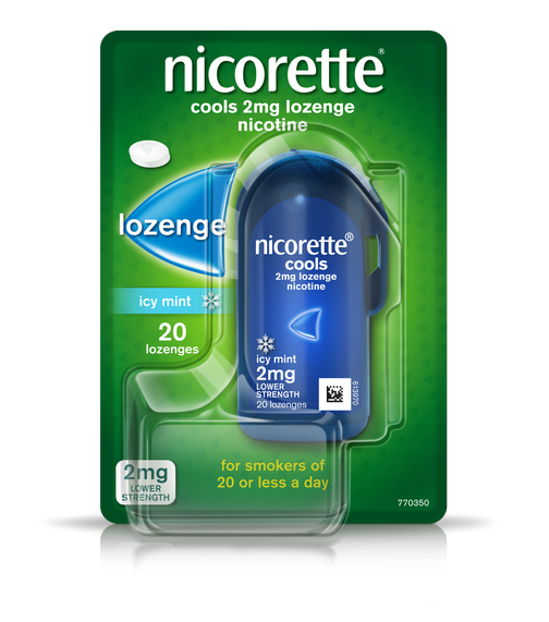 Nicorette Lozenge-Icy Mint 2mg 20