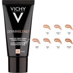 VICHY DERMABLEND FLUID FOUNDATION 25 NUDE 30ML