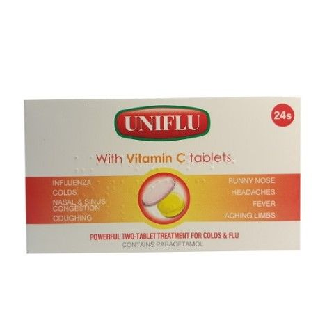 Uniflu with Vitamin C - 24 Tablets
