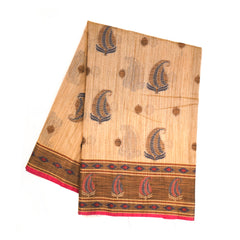 BEIGE COTTON SAREES