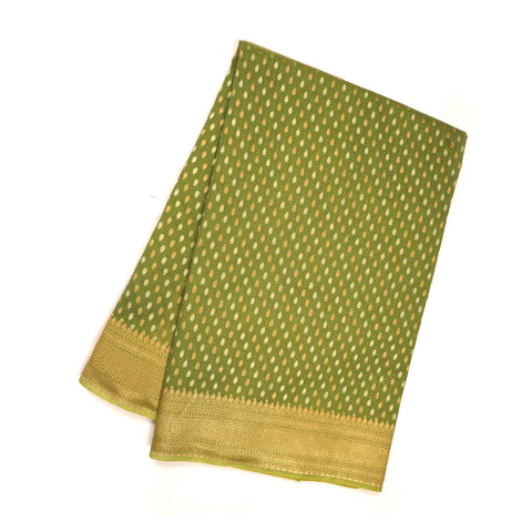 GREEN COTTON SAREES