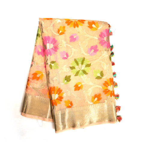 CREAM COTTON SAREE