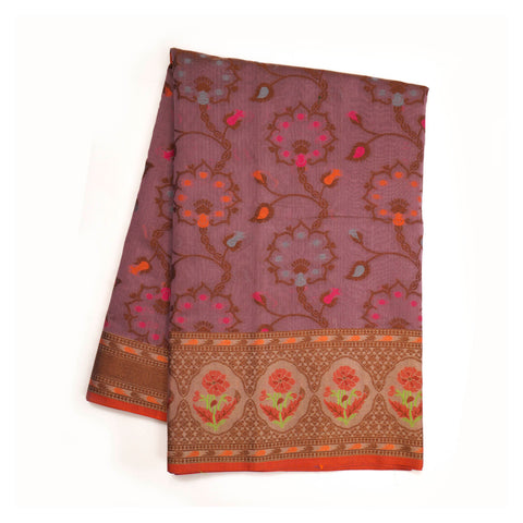PURPLE COTTON SAREES