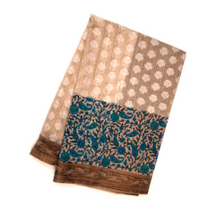CREAM COTTON SAREES,