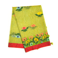 GREEN COTTON SAREES,