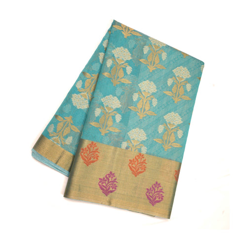 BLUE COTTON SAREES