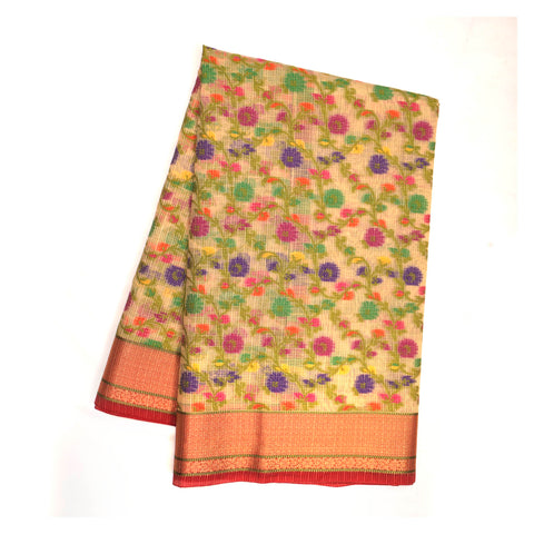 MULTICOLOURED COTTON SAREE