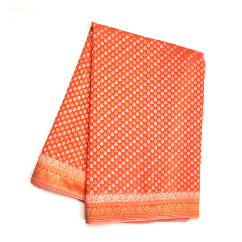 PEACH COTTON SAREES