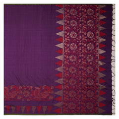 PURPLE SOFT SILK SILK SAREES,