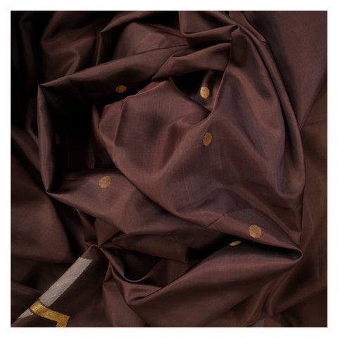 BROWN SOFT SILK SILK SAREES,