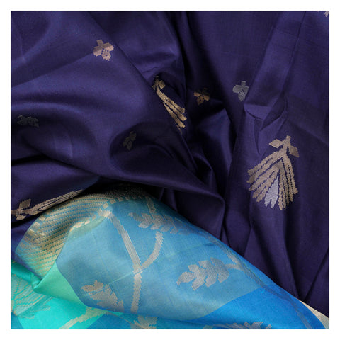 BLUE SOFT SILK SILK SAREES
