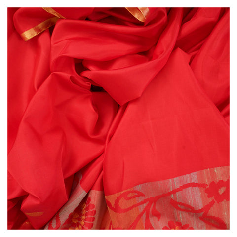 RED SOFT SILK SILK SAREES