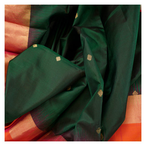 GREEN SOFT SILK SILK SAREES