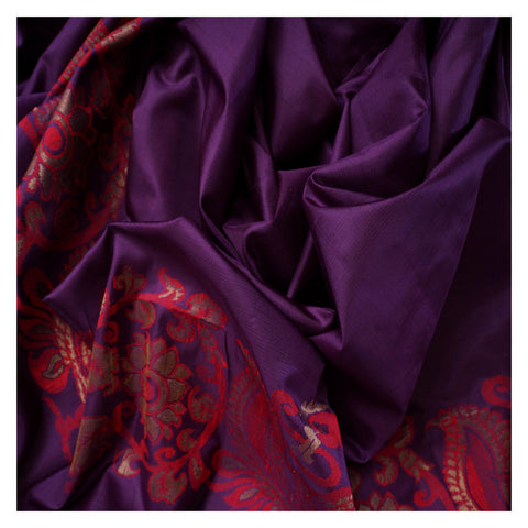 PURPLE SOFT SILK SILK SAREES