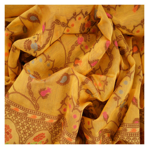 YELLOW COTTON SAREES