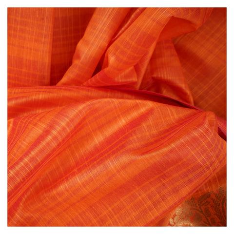 ORANGE COTTON SAREES