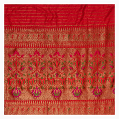 ORANGE BANARSI DUPION SAREE