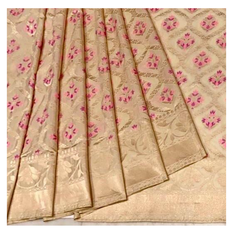 CREAM SILK BANARASI SAREE