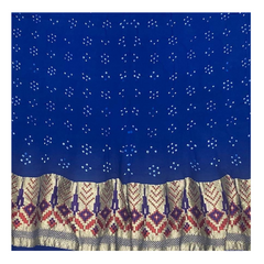 NAVY BLUE GEORGETTE BANDHANI SAREE