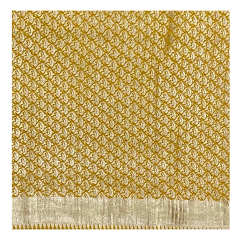 YELLOW MUNGA TUSSAR BANARASI SAREE