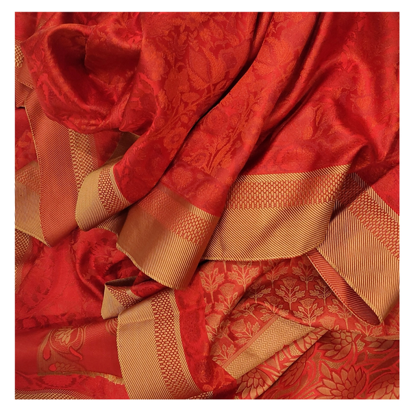 RED SILK KANJEEVARAM SOFT SILK SAREE