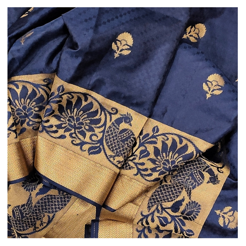 BLUE SILK KANJEEVARAM SAREE
