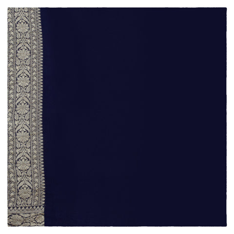 NAVY BANARSI GEORGETTE SAREE
