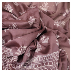 WINE COTTON SAREE,