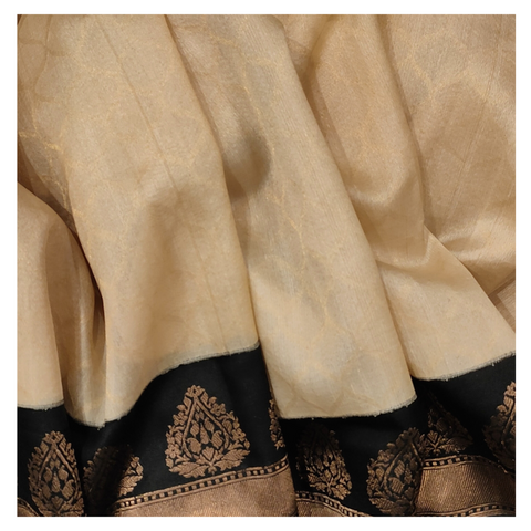 BEIGE KORA SILK HANDLOOM / SOFT SILK SAREE