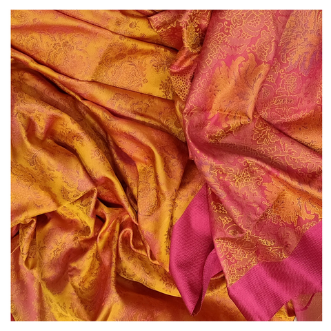 YELLOW SILK KANJEEVARAM SAREE