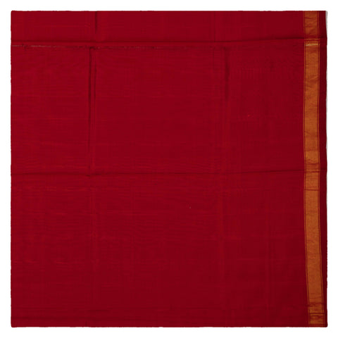 BRIC RED IKKAT SILK SAREE