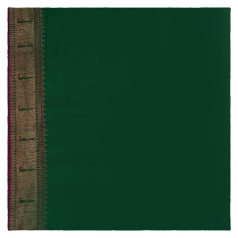 GREEN BANARSI DUPION SAREE
