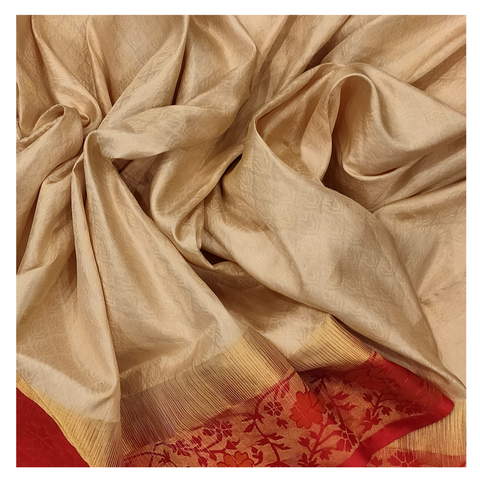 WHITE SILK UPADDA / SOFT SILK/ KANJEEVARAM SAREE