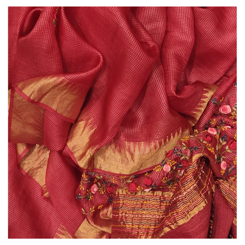 RED KOTA DESIGNER SAREE