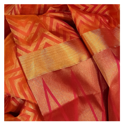 ORANGE SILK KANJIVARAM UPADDA SAREE