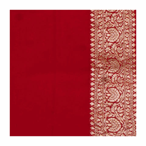 RED BANARSI GEORGETTE SAREE