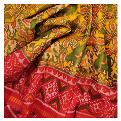 YELLOW SILK PATOLA  SAREE