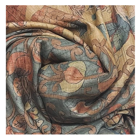 MULTICOLOURED KALAMKARI SAREE,