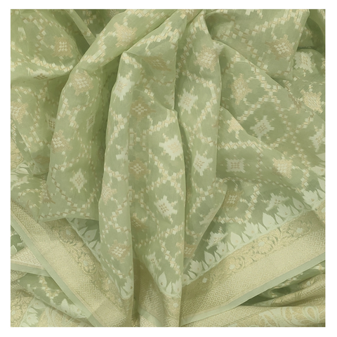 GREEN COTTON/HANDLOOM/BANARASI SAREE