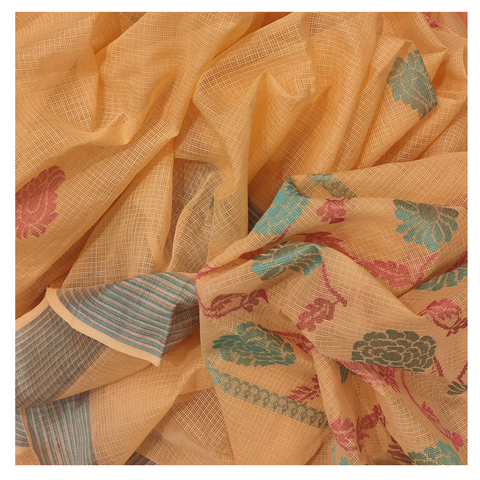 PEACH KOTA / COTTON / HANDLOOM SAREE
