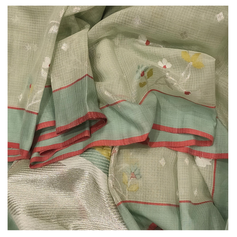 GREEN COTTON KOTA SAREE