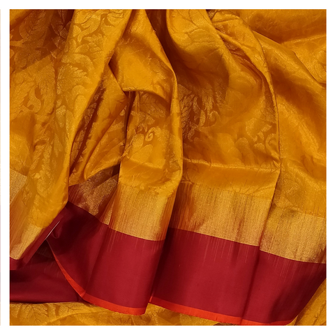 YELLOW SILK UPPADDA SAREE