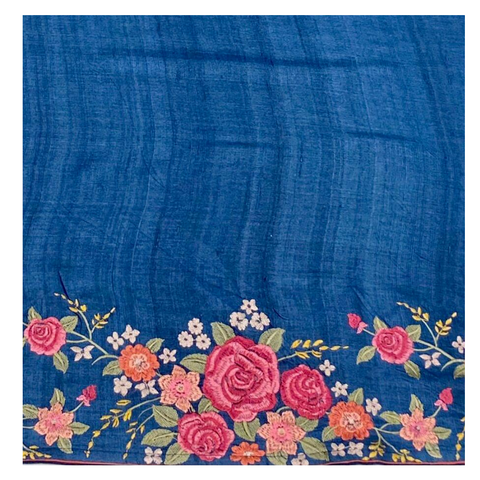BLUE TUSSAR SAREE