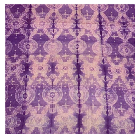 PURPLE SHIBORI TUSSAR DRESS MATERIAL