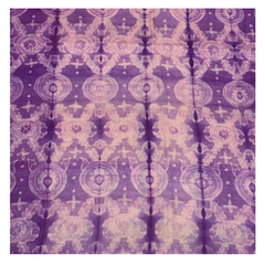 PURPLE SHIBORI TUSSAR DRESS MATERIAL,