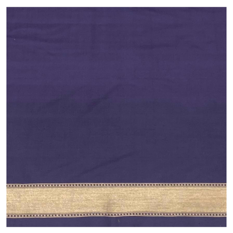 BLUE SILK BANARASI SAREE